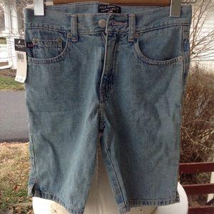 New boys polo Jean shorts.